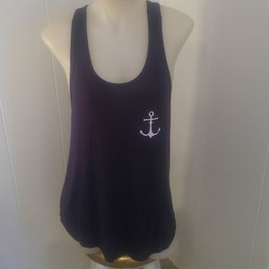 French Pastry: Sz. L. Drk Navy Tank Top.